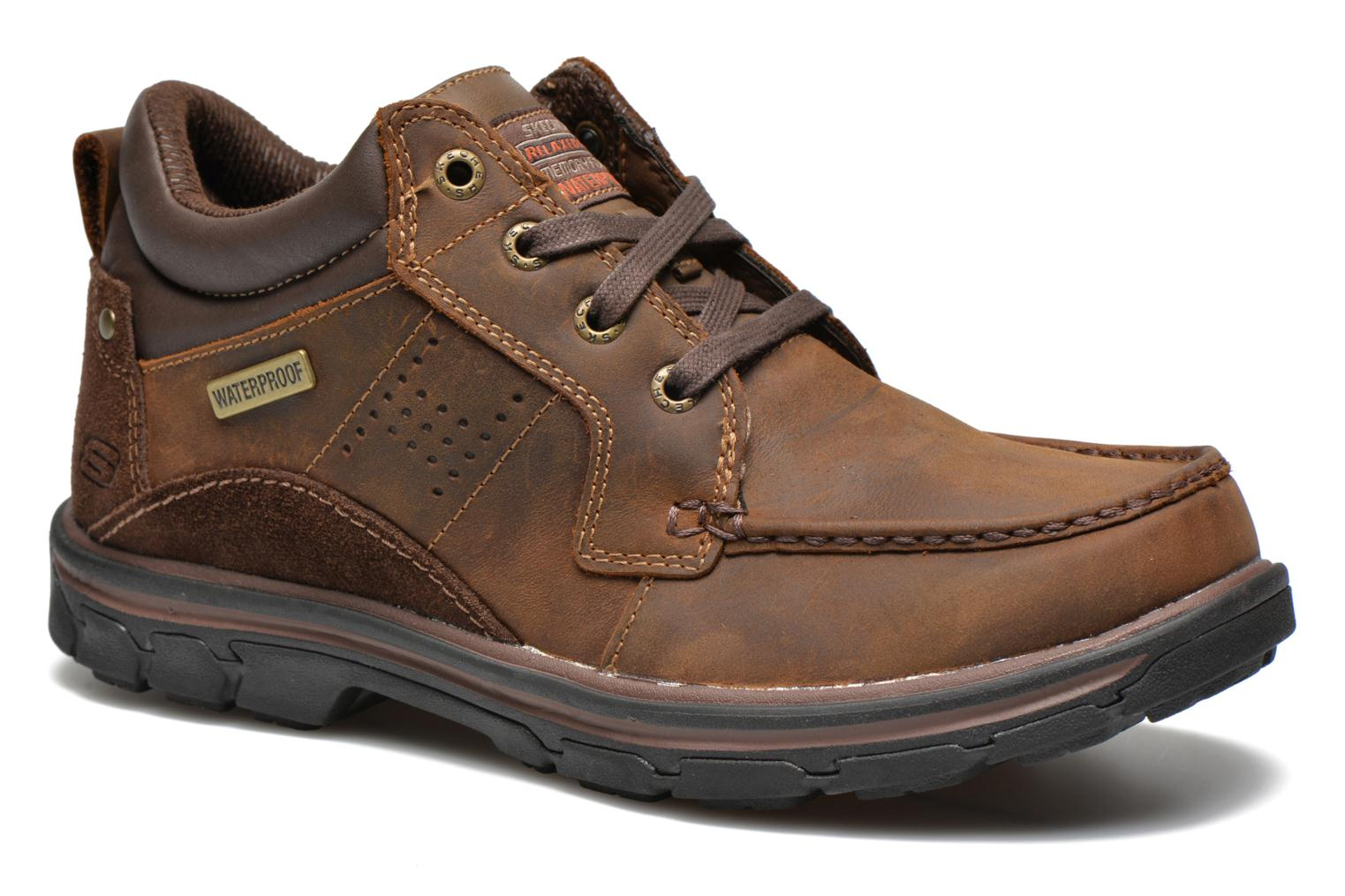 Lace-up shoes Skechers Segment Melego 64522 Brown detailed view/ Pair view