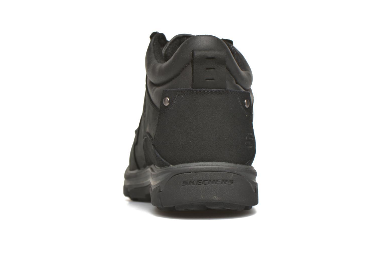 Chaussures à lacets Skechers Segment Melego 64522 Noir vue droite