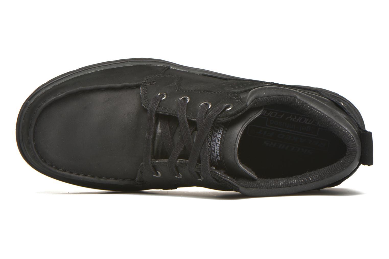 Schnürschuhe Skechers Segment Melego 64522 schwarz ansicht von links