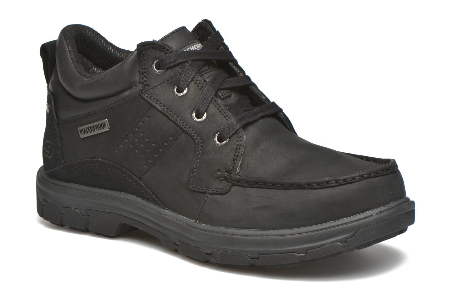 Lace-up shoes Skechers Segment Melego 64522 Black detailed view/ Pair view