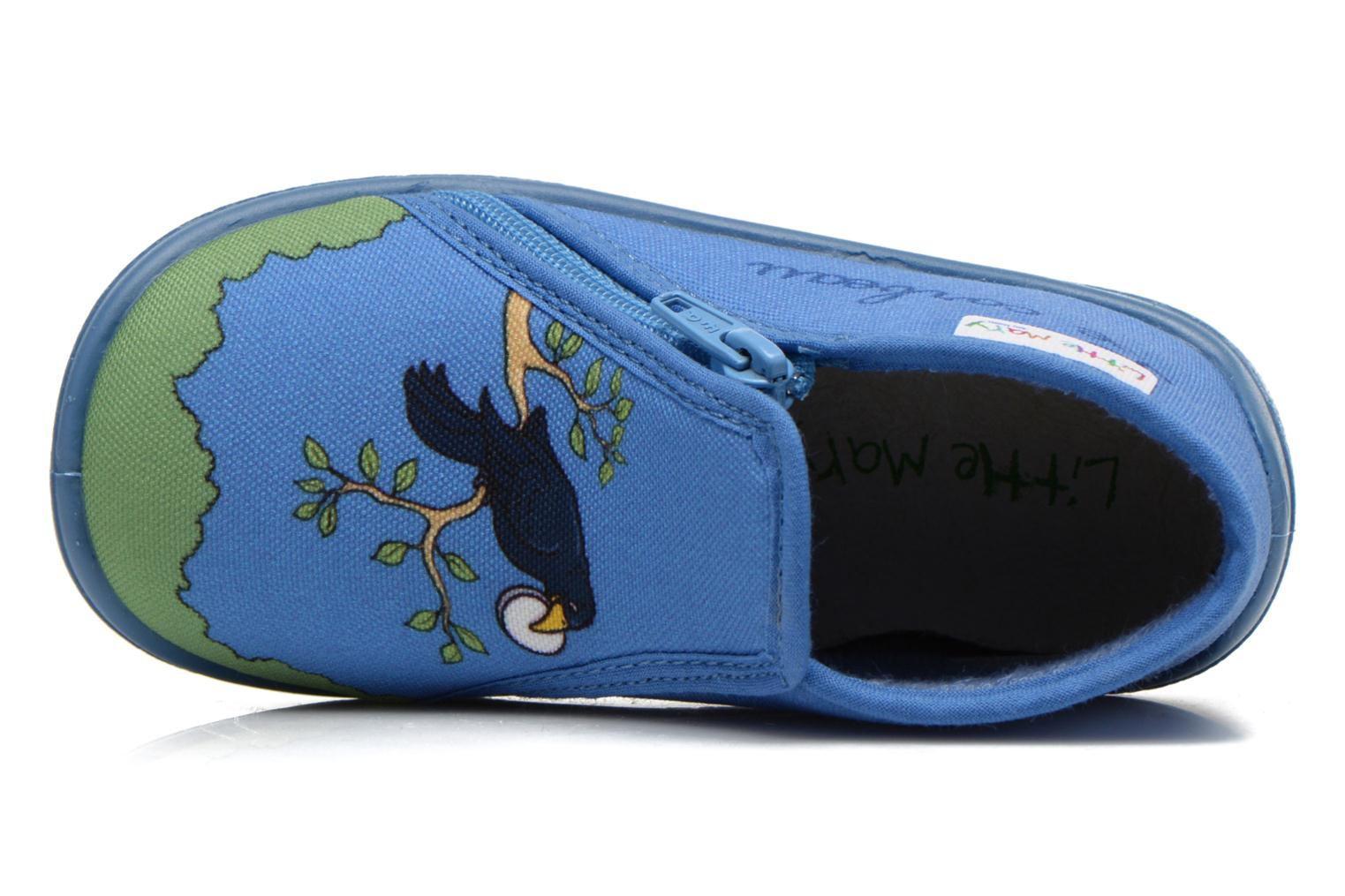 Pantoffels Little Mary Zecorbeau Blauw links