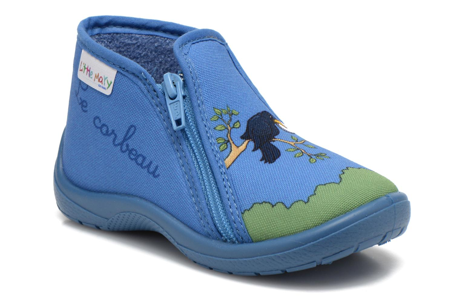 Slippers Little Mary Zecorbeau Blue detailed view/ Pair view