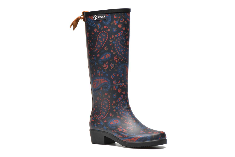 Boots & wellies Aigle Miss Juliette Print Blue detailed view/ Pair view