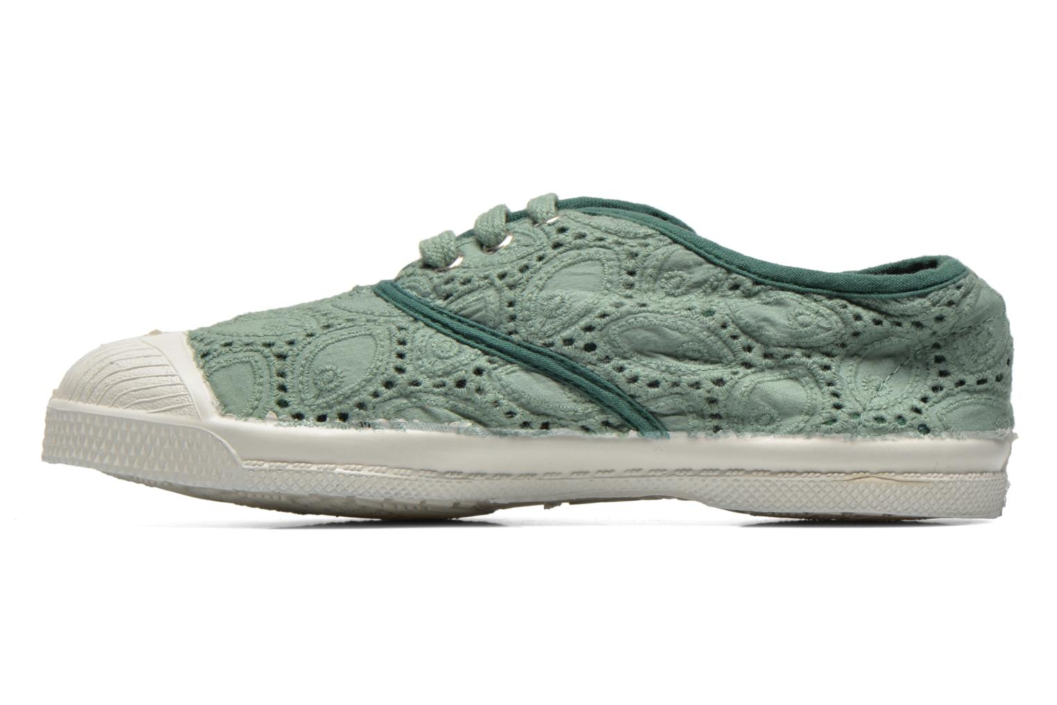 Sneakers Bensimon Tennis Broderie Anglaise E Verde immagine frontale