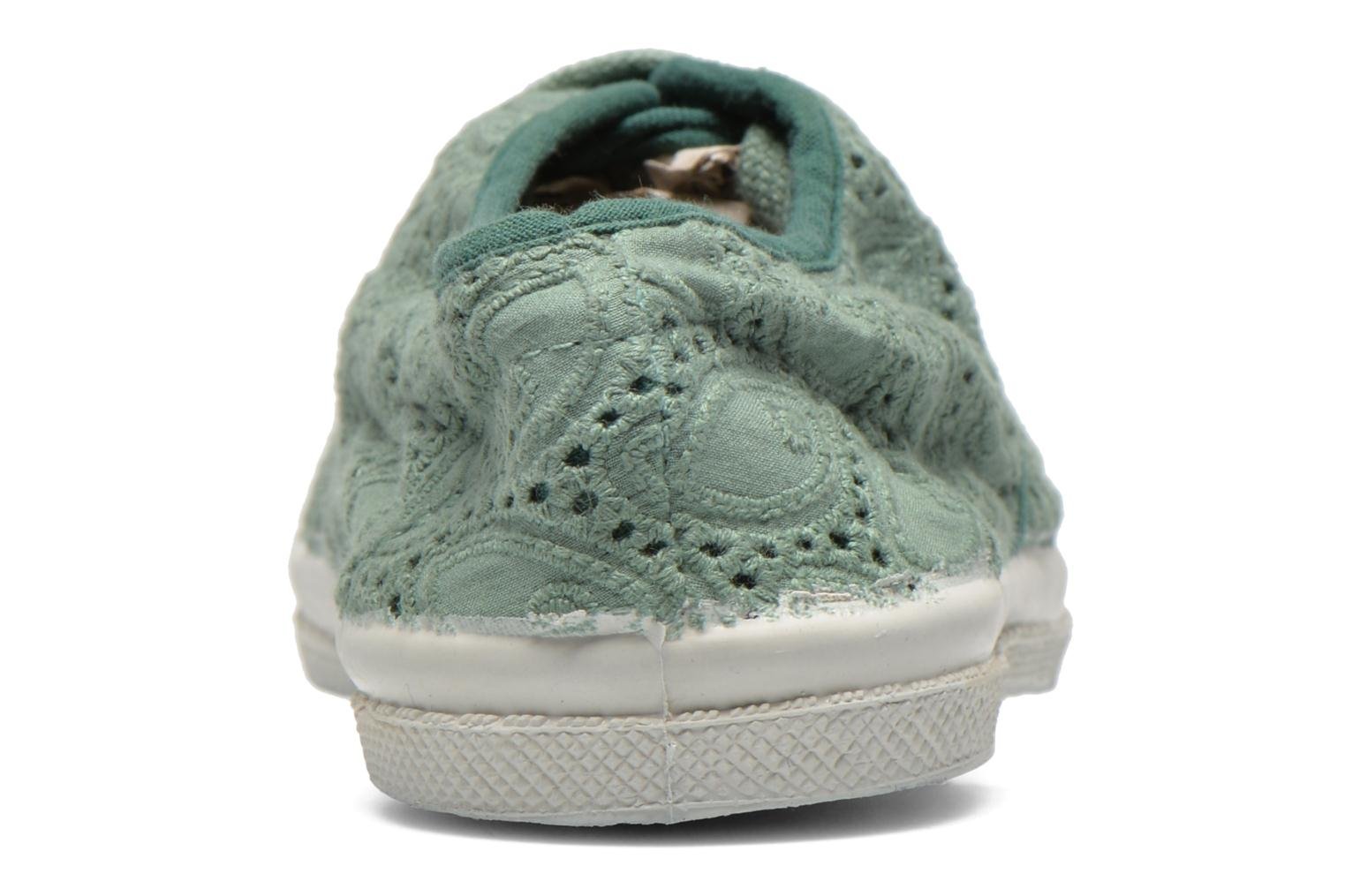 Trainers Bensimon Tennis Broderie Anglaise E Green view from the right