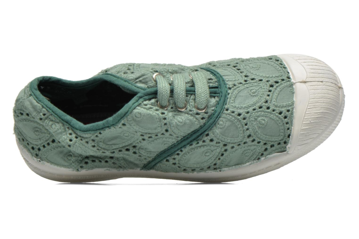 Sneakers Bensimon Tennis Broderie Anglaise E Verde immagine sinistra