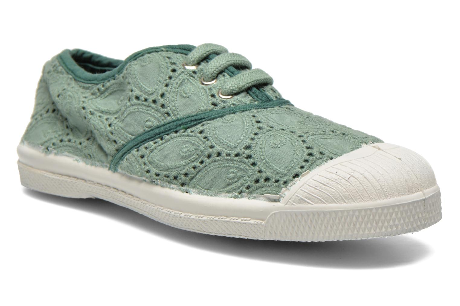 Trainers Bensimon Tennis Broderie Anglaise E Green detailed view/ Pair view