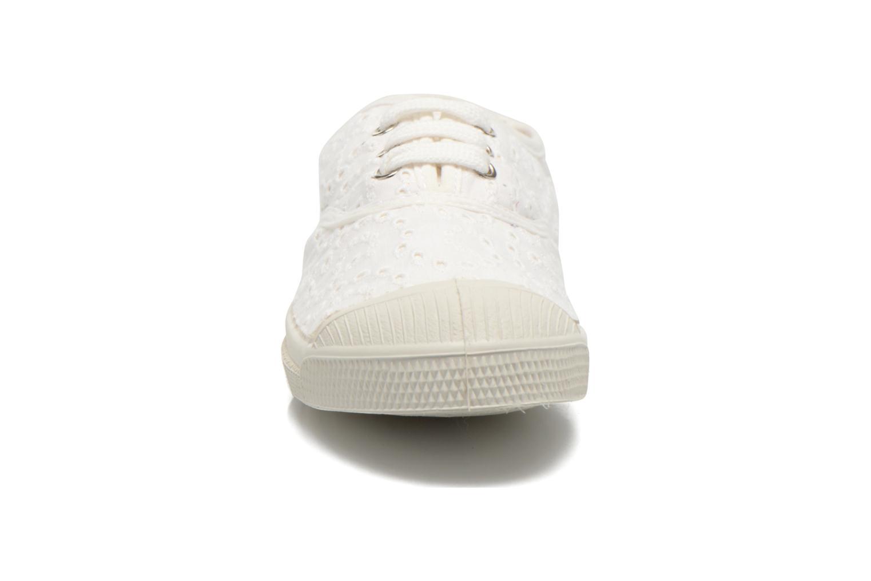 Baskets Bensimon Tennis Broderie Anglaise E Blanc vue portées chaussures