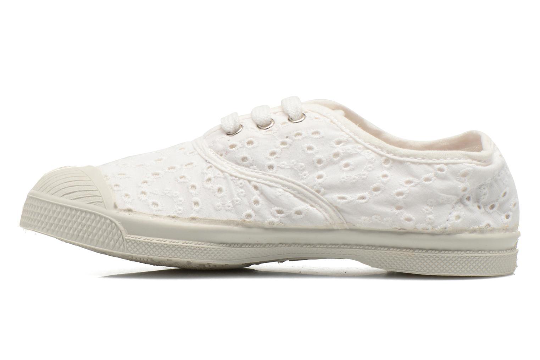 Sneaker Bensimon Tennis Broderie Anglaise E weiß ansicht von vorne