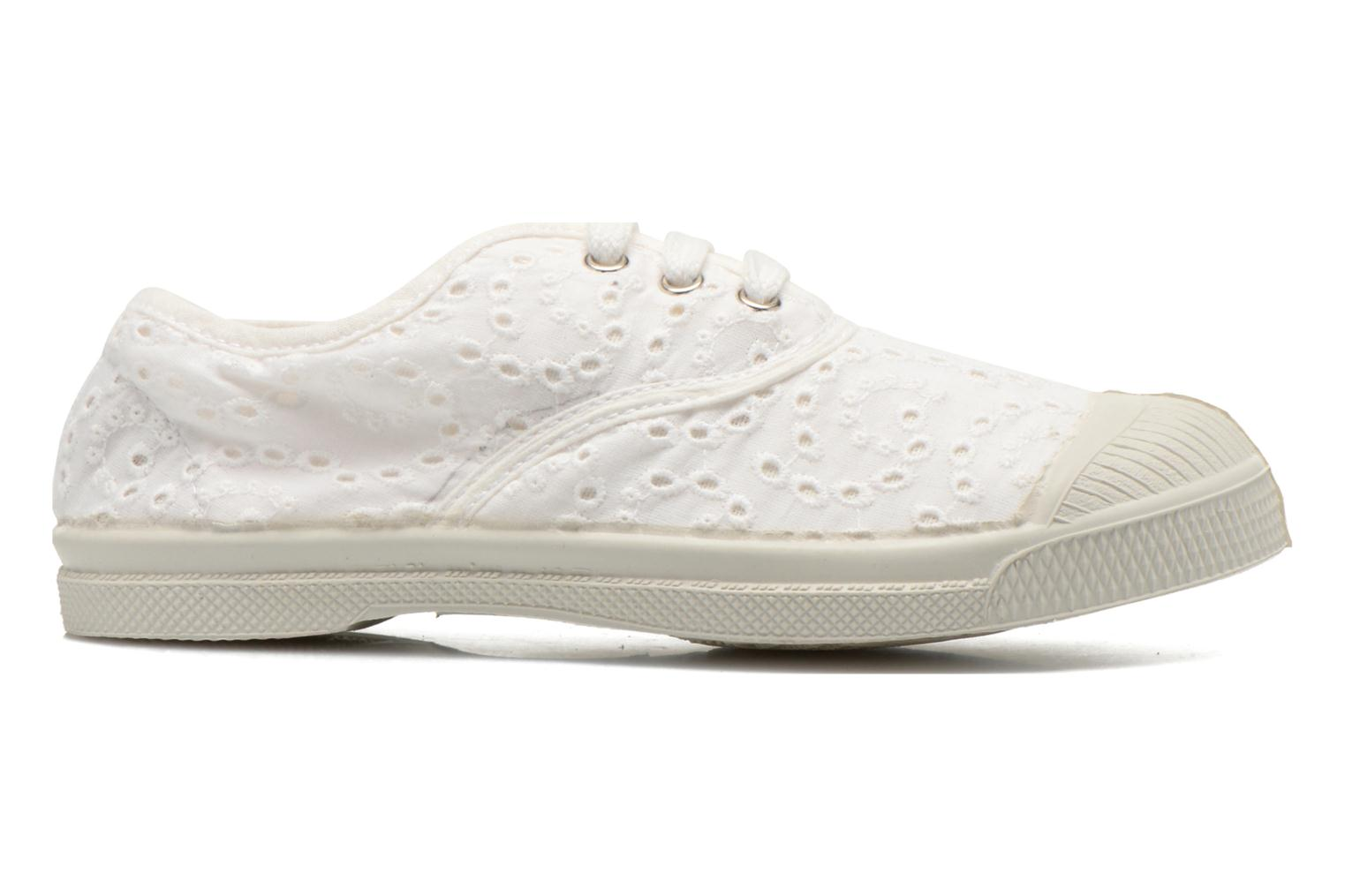 Trainers Bensimon Tennis Broderie Anglaise E White back view