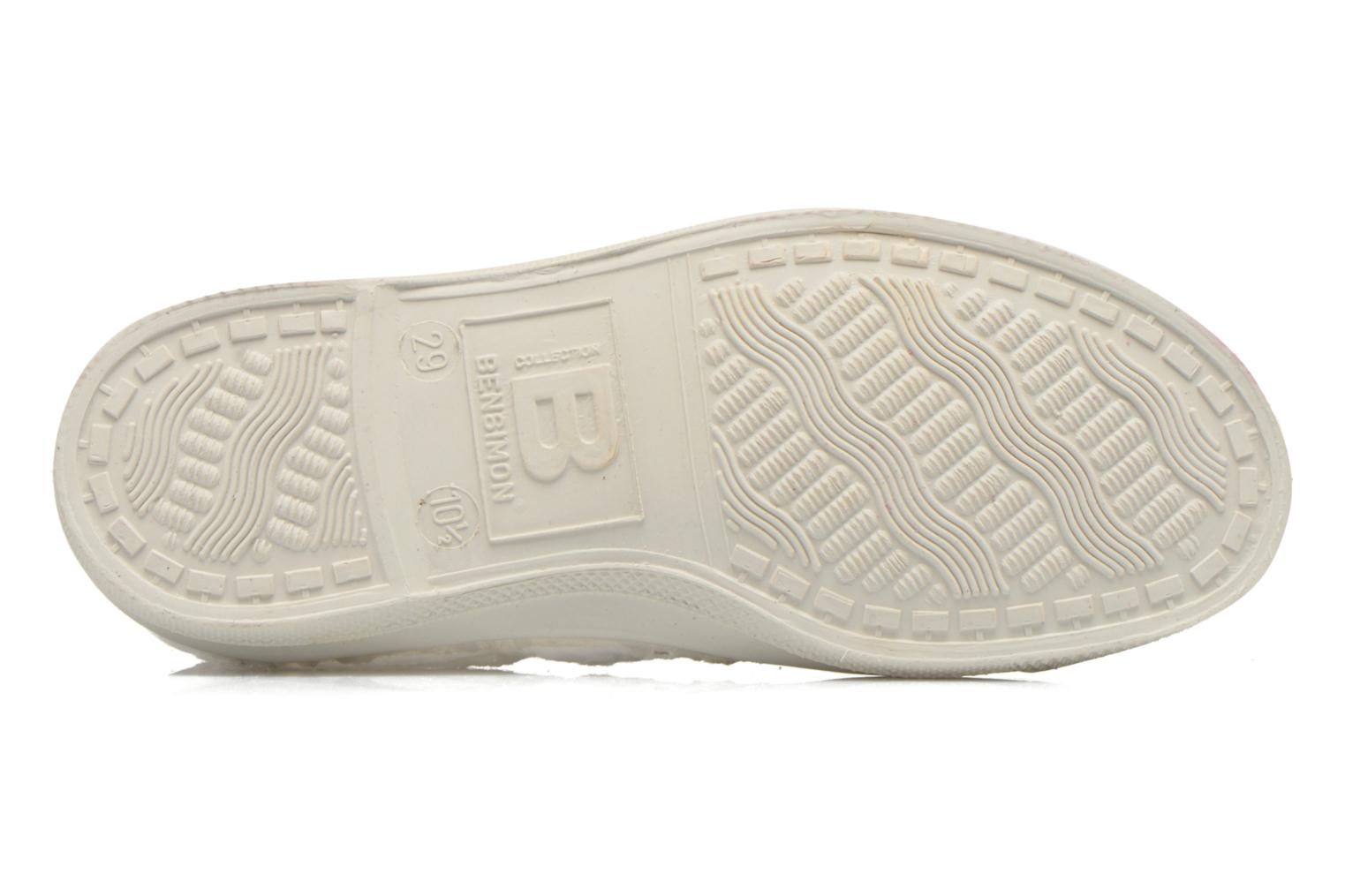 Trainers Bensimon Tennis Broderie Anglaise E White view from above