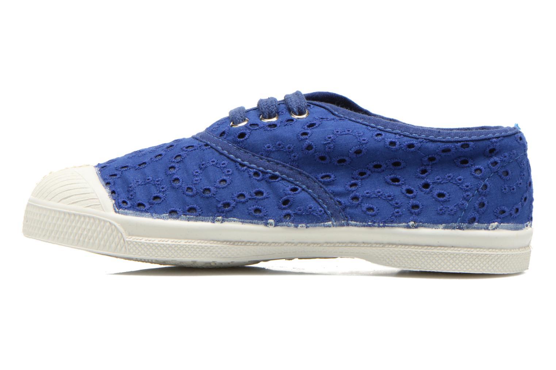Sneakers Bensimon Tennis Broderie Anglaise E Azzurro immagine frontale