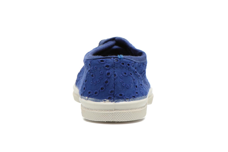 Sneakers Bensimon Tennis Broderie Anglaise E Azzurro immagine destra