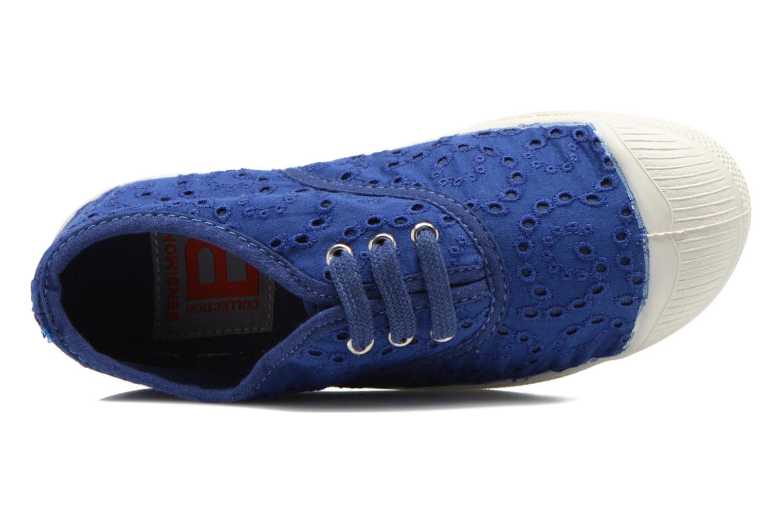 Sneakers Bensimon Tennis Broderie Anglaise E Azzurro immagine sinistra