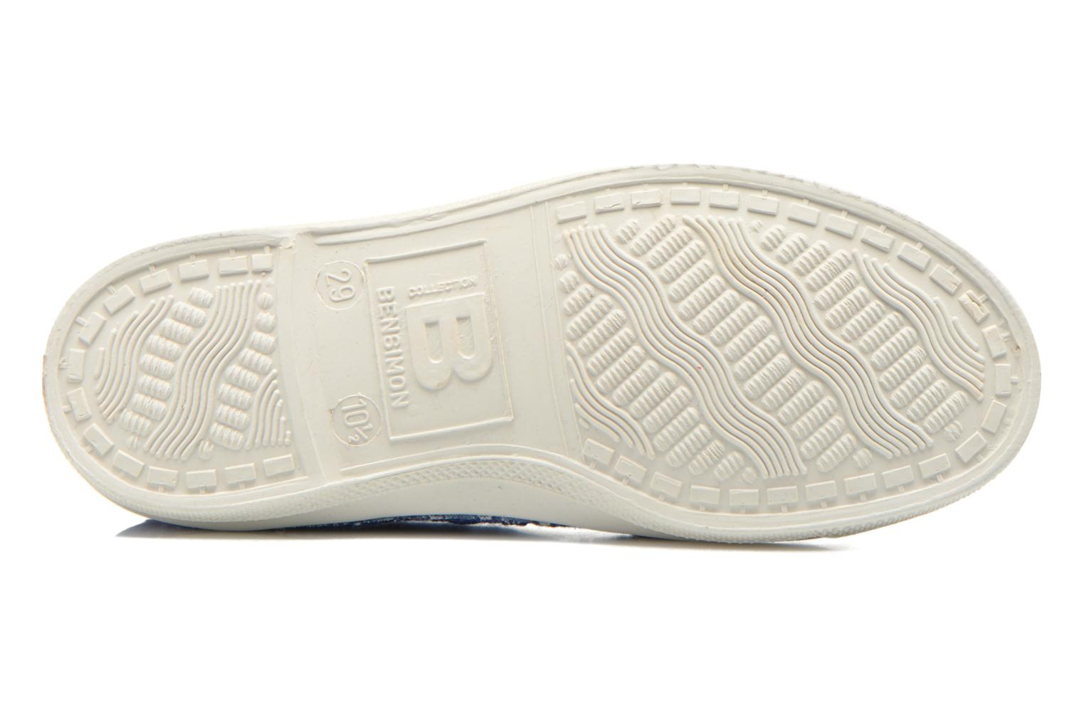 Trainers Bensimon Tennis Broderie Anglaise E Blue view from above