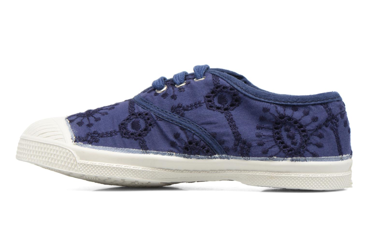 Sneakers Bensimon Tennis Broderie Anglaise E Azzurro immagine frontale