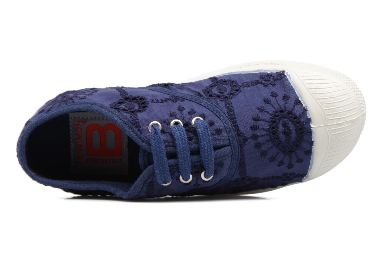 Baskets Bensimon Tennis Broderie Anglaise E Bleu vue gauche