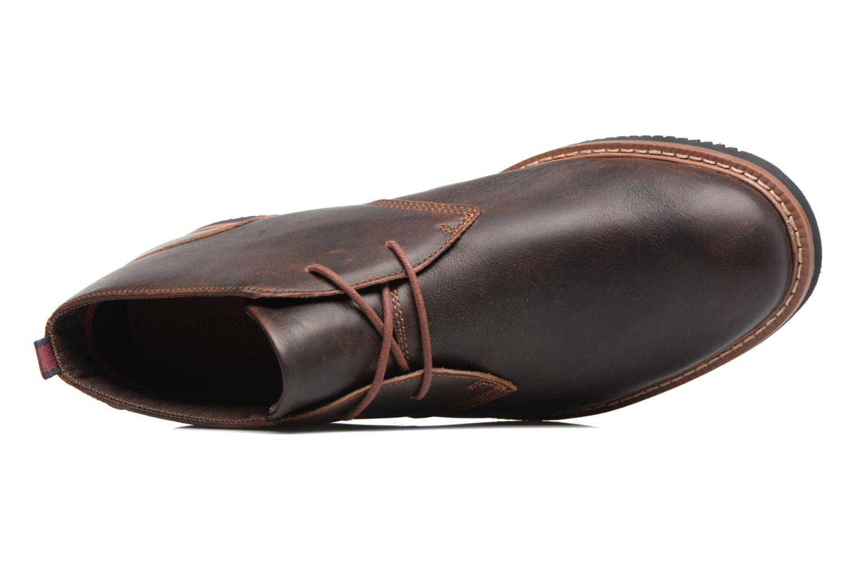 Chaussures à lacets Timberland Brook Park Chukka Marron vue gauche