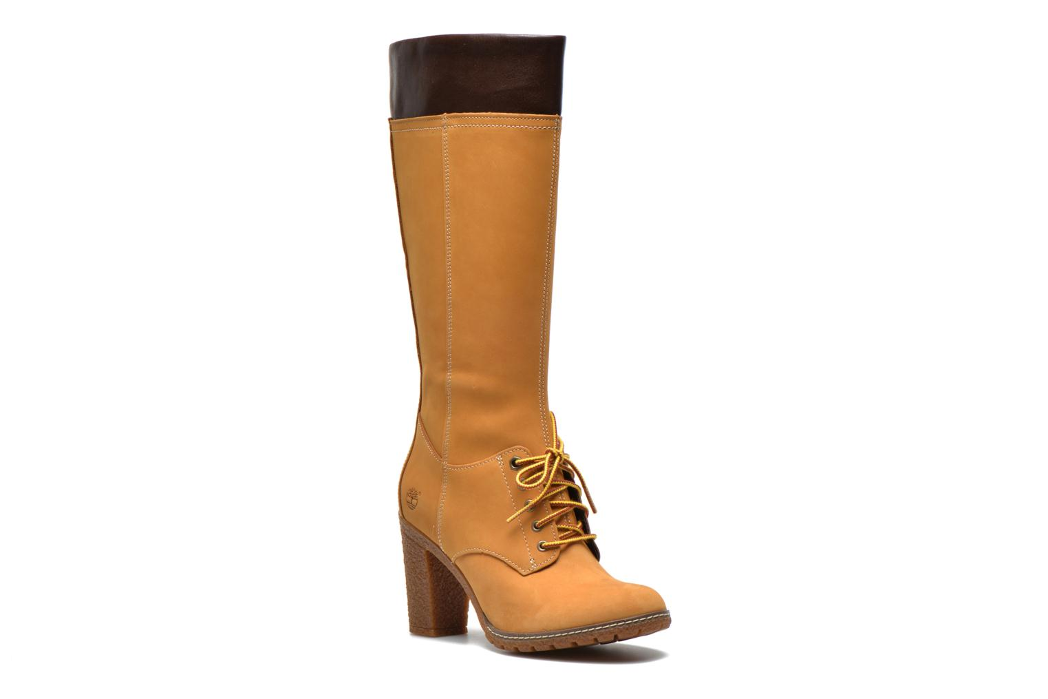 Glancy Tall Lace with Side Zip Boot Wheat Nubuck