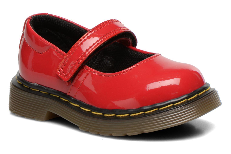 Ballerinas Dr. Martens Tully E rot detaillierte ansicht/modell