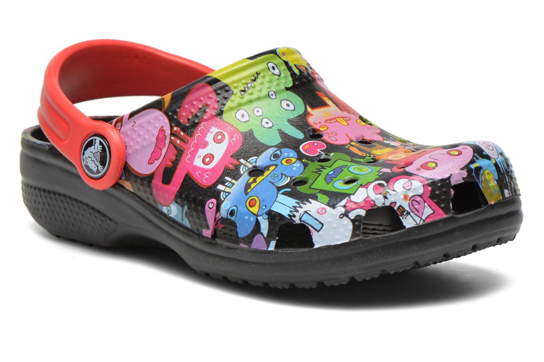 Sandales et nu-pieds Crocs Classic Burger Clog Kids Multicolore vue détail/paire