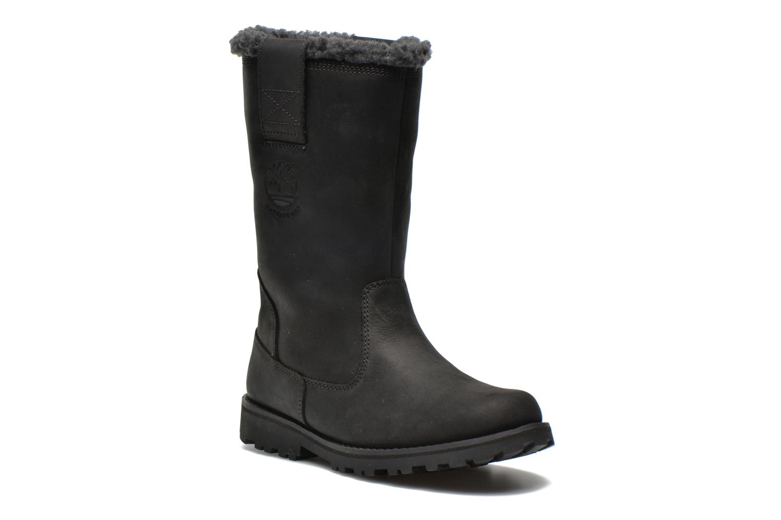 8 IN PULL ON WP BOOT Black