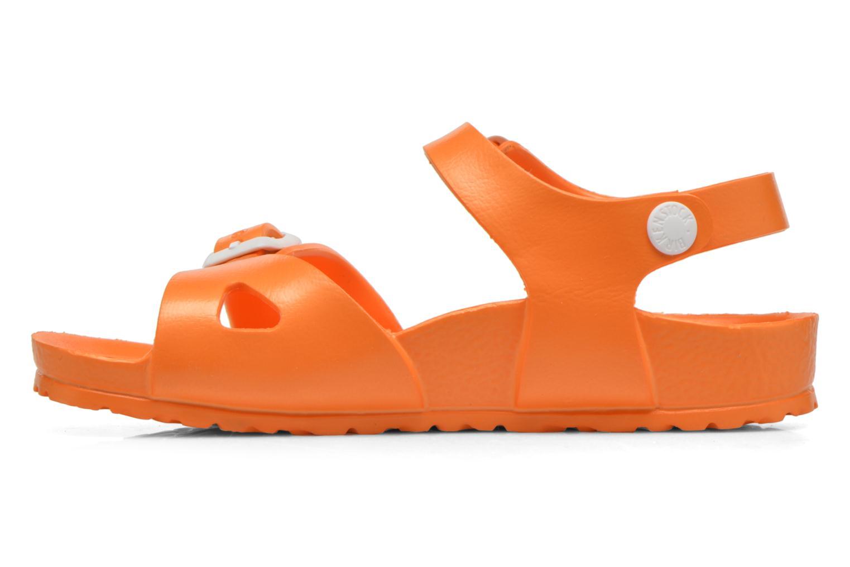 Sandales et nu-pieds Birkenstock Rio EVA Orange vue face