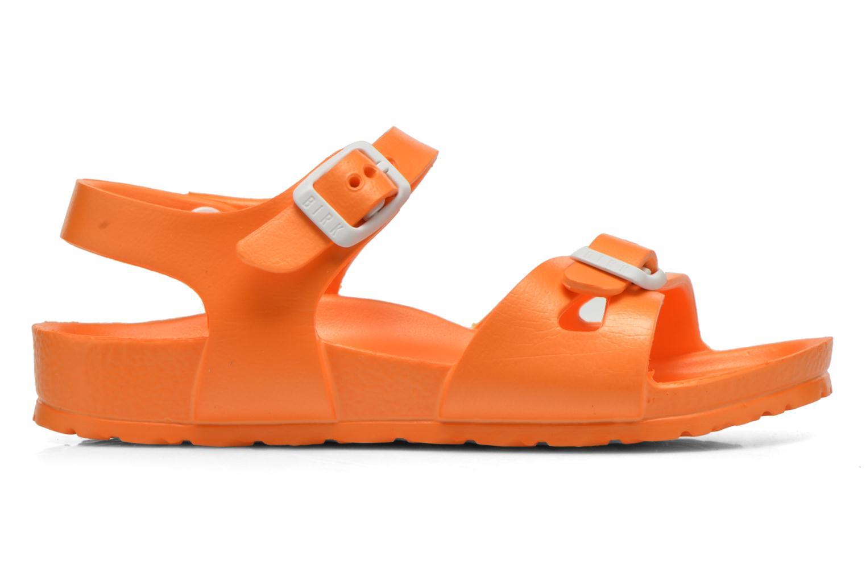 Sandales et nu-pieds Birkenstock Rio EVA Orange vue derrière