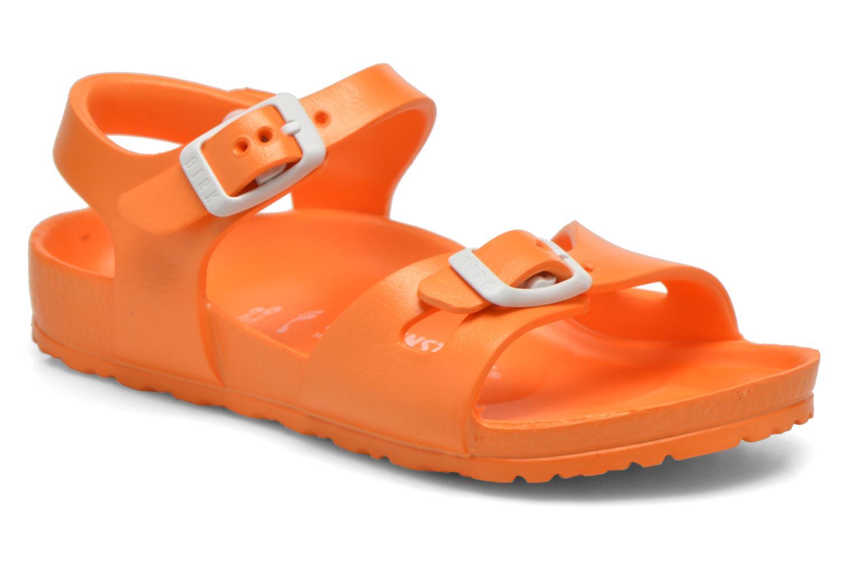 Sandales et nu-pieds Birkenstock Rio EVA Orange vue détail/paire