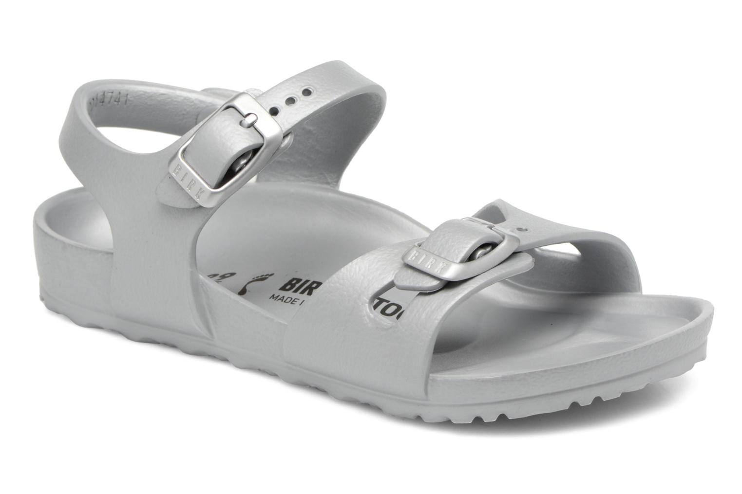 Sandals Birkenstock Rio EVA Silver detailed view/ Pair view