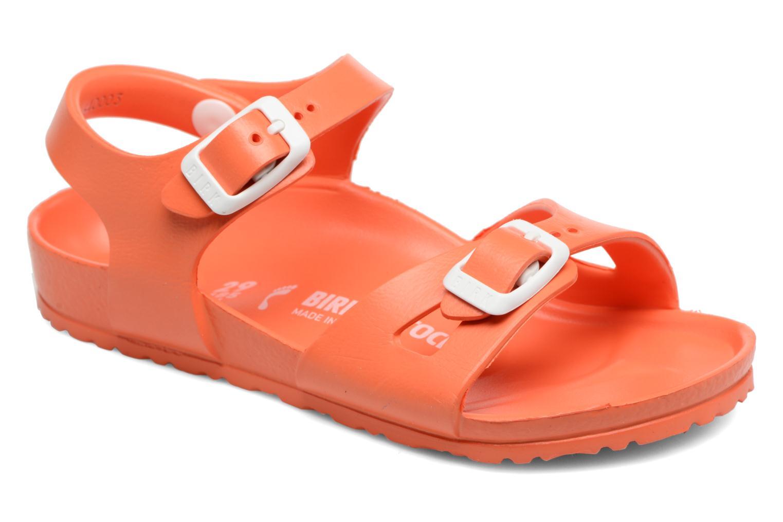 Sandals Birkenstock Rio EVA Orange detailed view/ Pair view