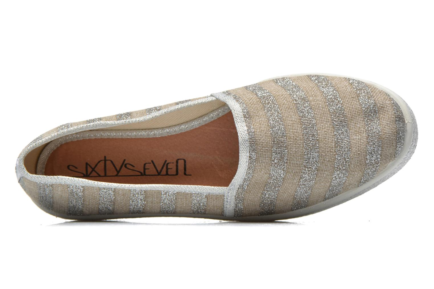 Espadrilles Sixty Seven Stripes Silver view from the left