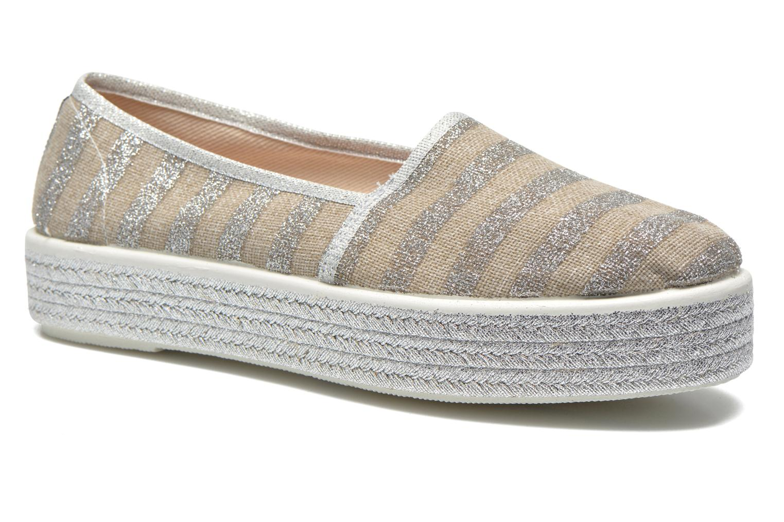 Espadrilles Sixty Seven Stripes Silver detailed view/ Pair view