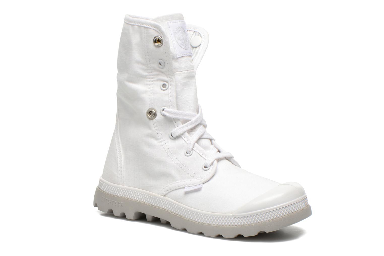 Sneakers Palladium Baggy lite kid Vit 3/4 bild