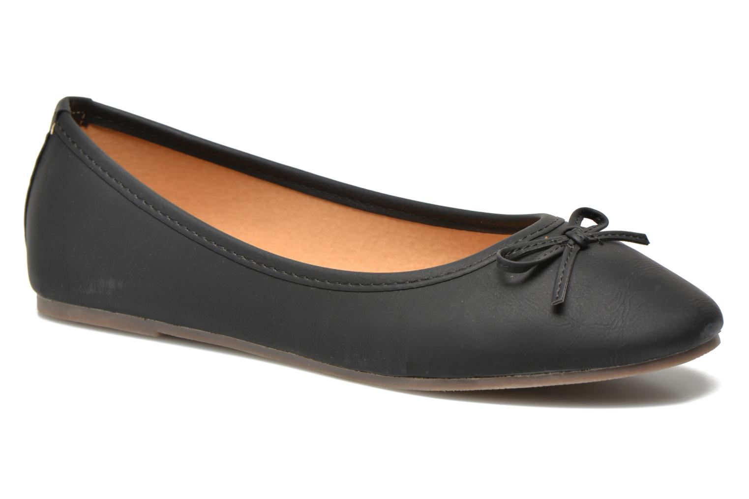 Ballerines I Love Shoes Suflatine Noir vue détail/paire