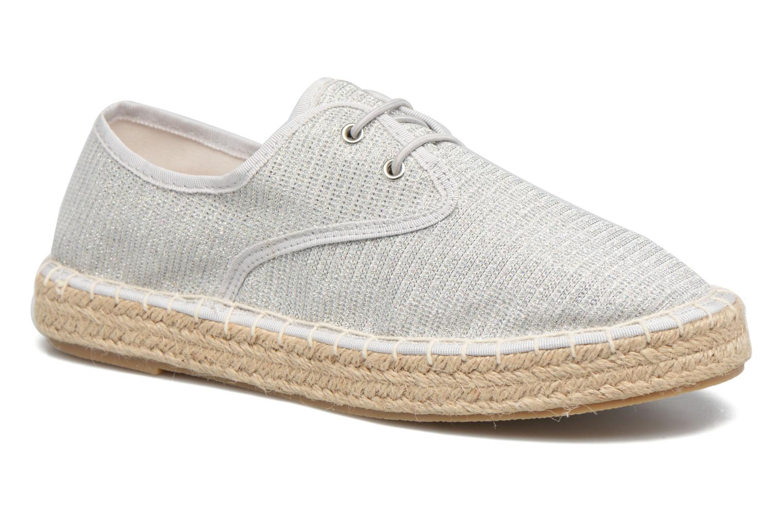 Alpargatas I Love Shoes Surmino Plateado vista 3/4