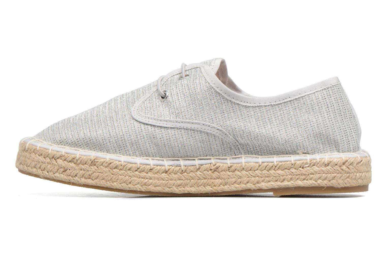 Espadrilles I Love Shoes Surmino Silver front view