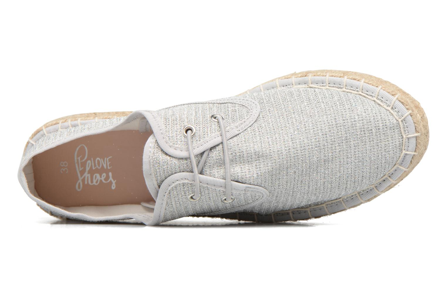 Espadrilles I Love Shoes Surmino Silver view from the left