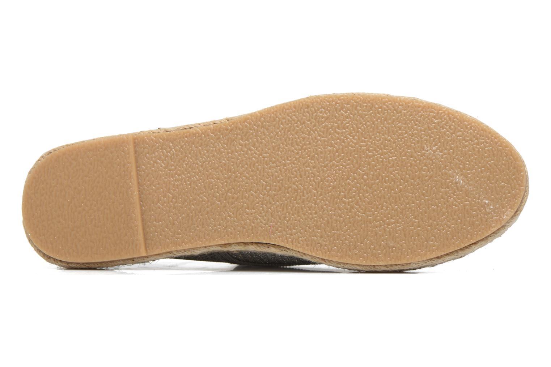 Alpargatas I Love Shoes Surmino Plateado vista de arriba