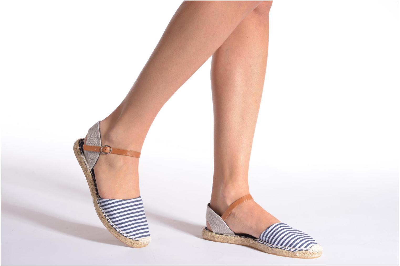 Sandales et nu-pieds I Love Shoes Supik Bleu vue bas / vue portée sac