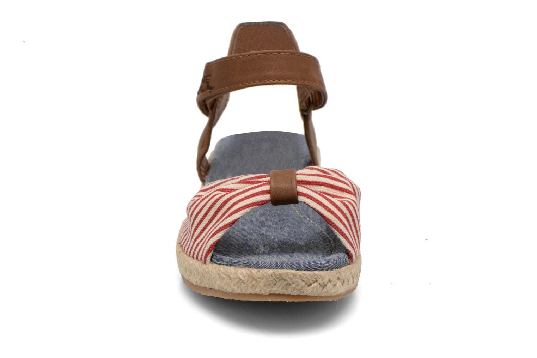Sandales et nu-pieds I Love Shoes Sudrira Rouge vue portées chaussures
