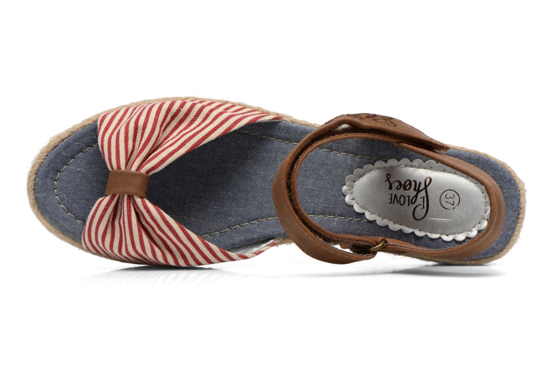Sandales et nu-pieds I Love Shoes Sudrira Rouge vue gauche
