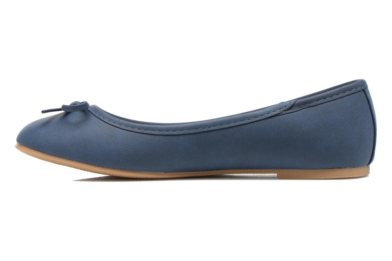 Ballerinas I Love Shoes Sufllatina blau ansicht von vorne