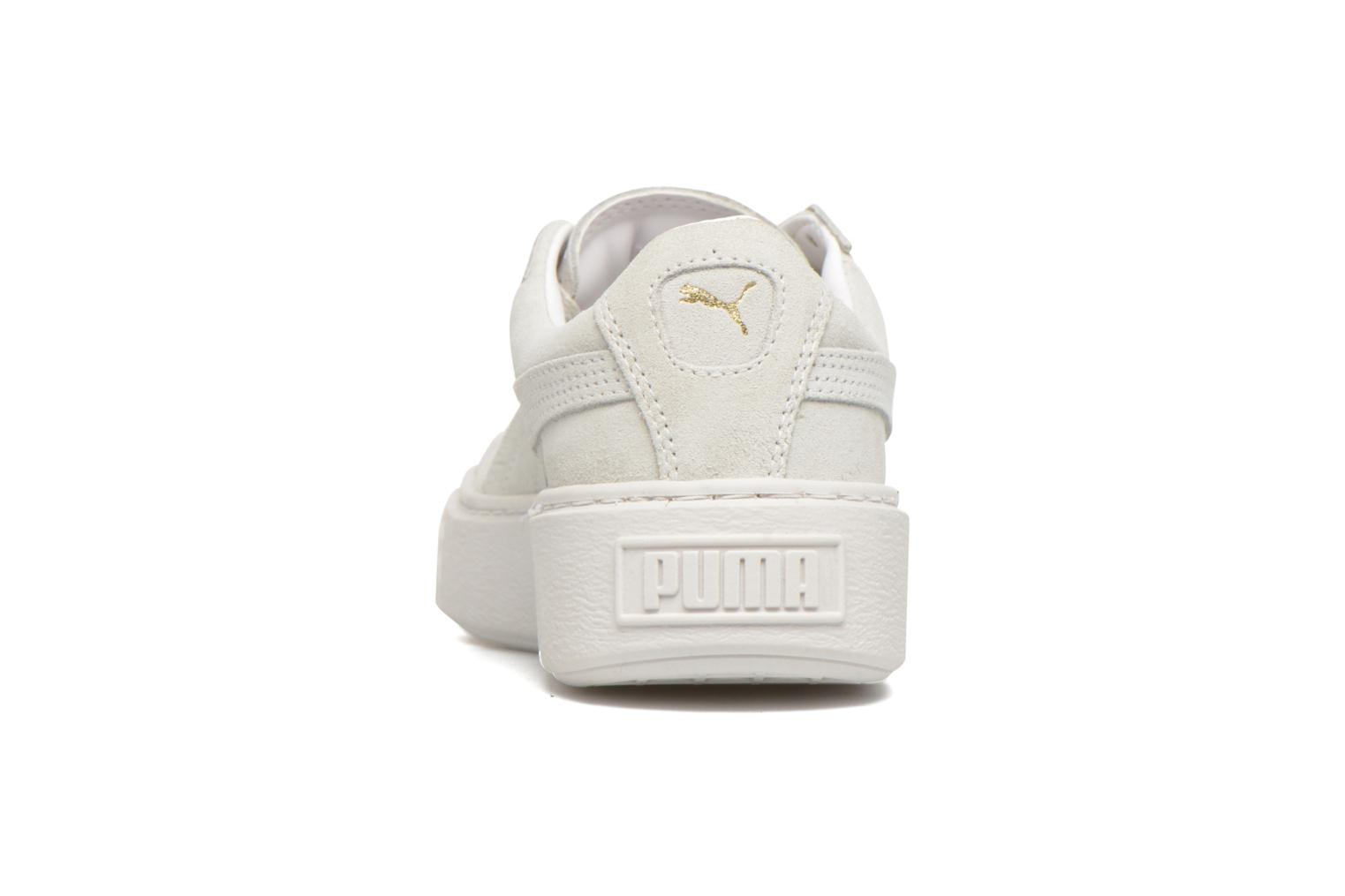 Baskets Puma WNS Suede Creepers Blanc vue droite