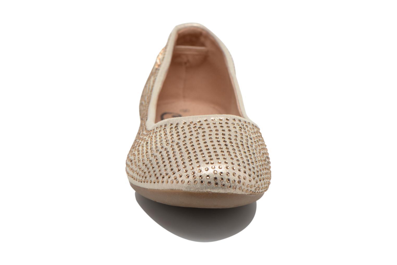 Ballerines Refresh Dantzari Or et bronze vue portées chaussures