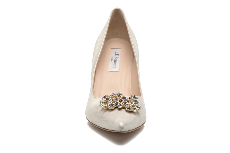 Escarpins L.K. Bennett Foley Or et bronze vue portées chaussures