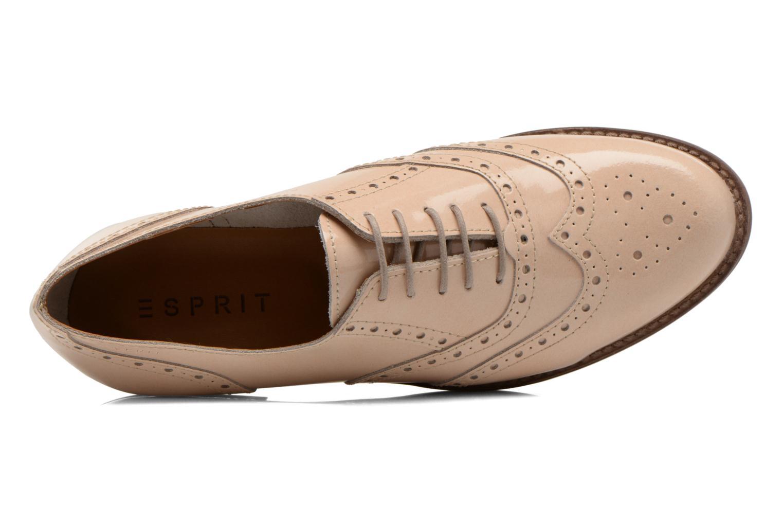 Chaussures à lacets Esprit Aida Lace Up Beige vue gauche