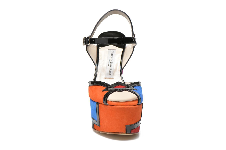 Sandales et nu-pieds Terry de Havilland JACQUETTA Multicolore vue portées chaussures