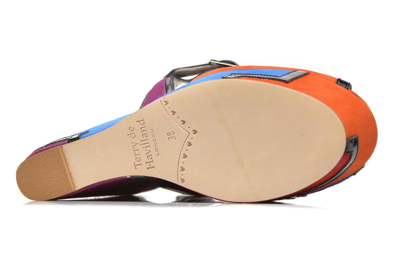 Sandales et nu-pieds Terry de Havilland JACQUETTA Multicolore vue haut