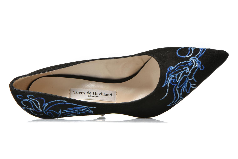 Zapatos de tacón Terry de Havilland DRAGON STILETTO Negro vista lateral izquierda